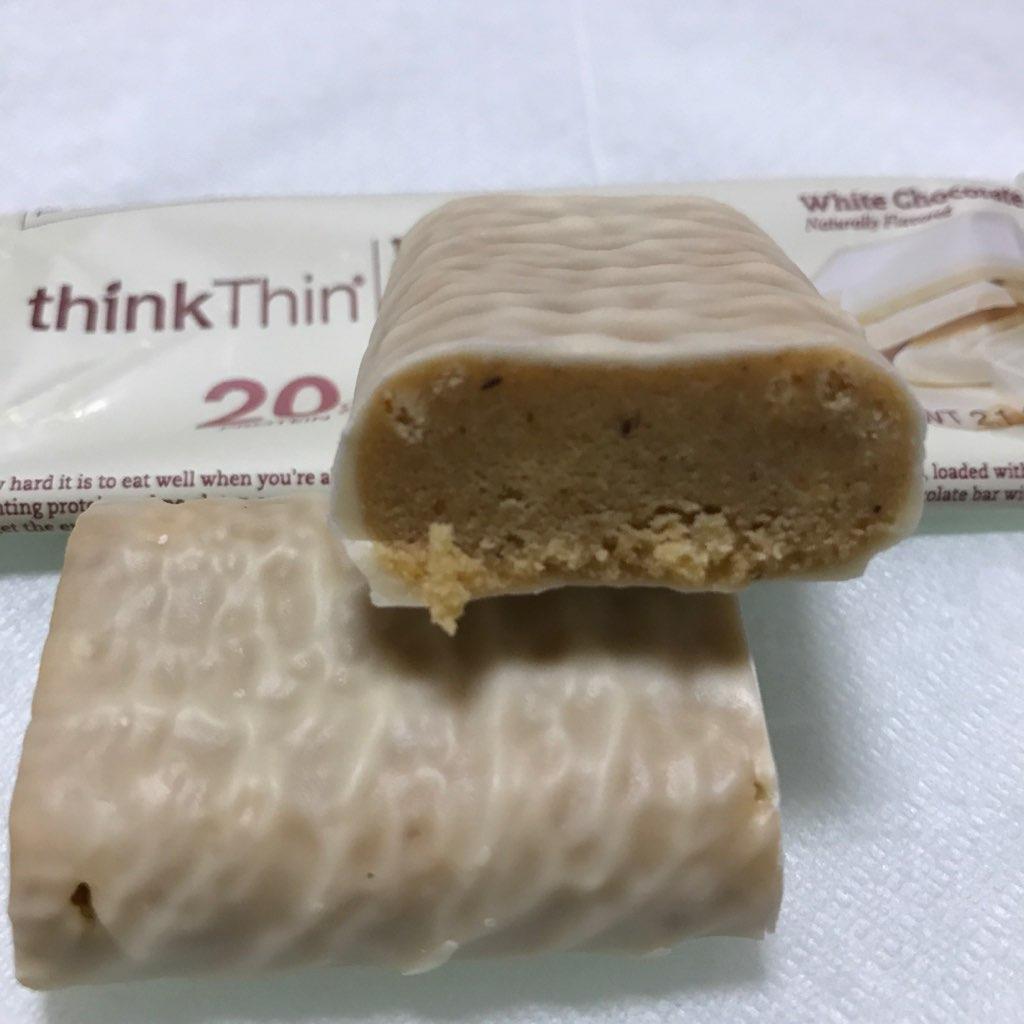 シンクシンのハイプロテインバーのホワイトチョコレート