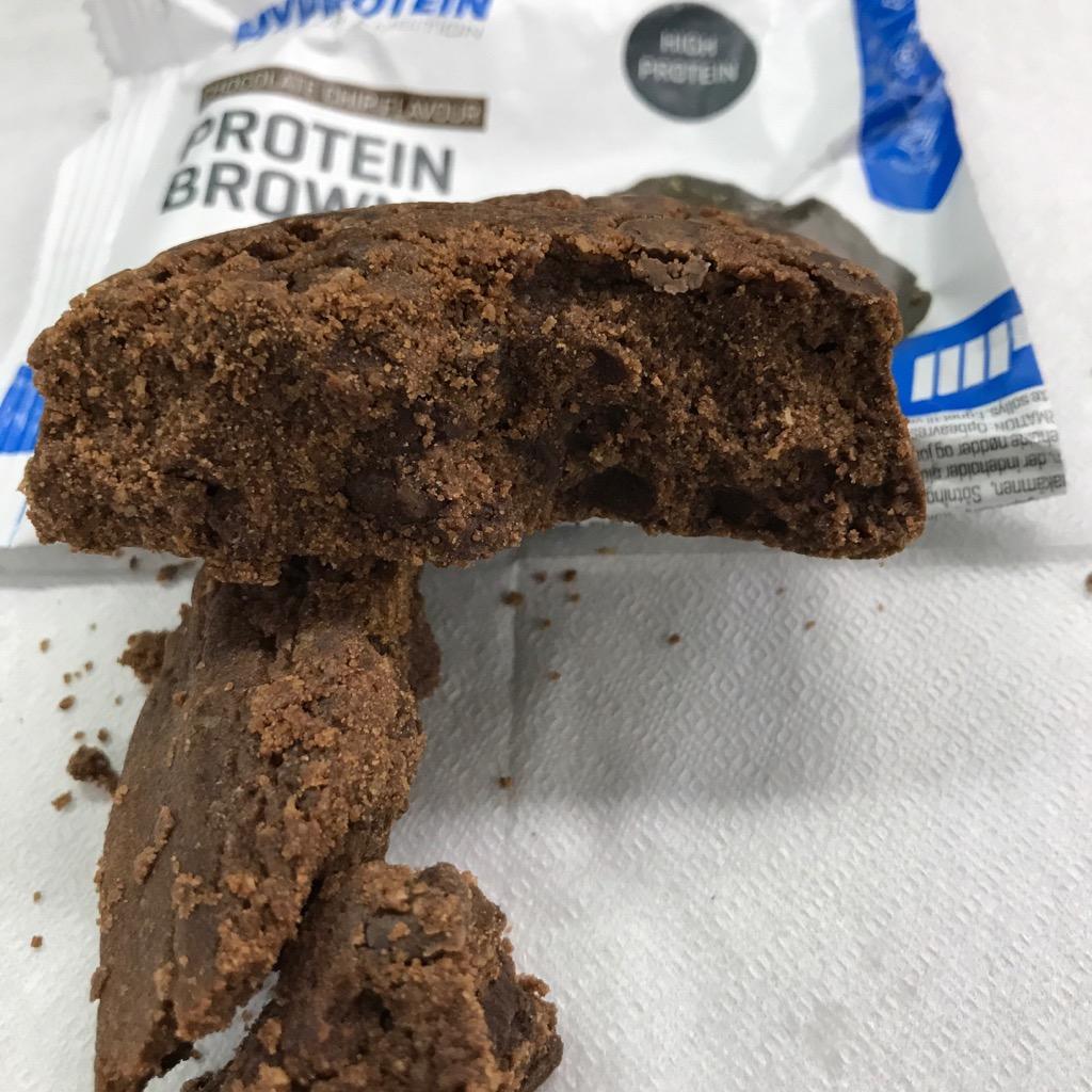 マイプロテインのプロテインブラウニー チョコレートチップ味