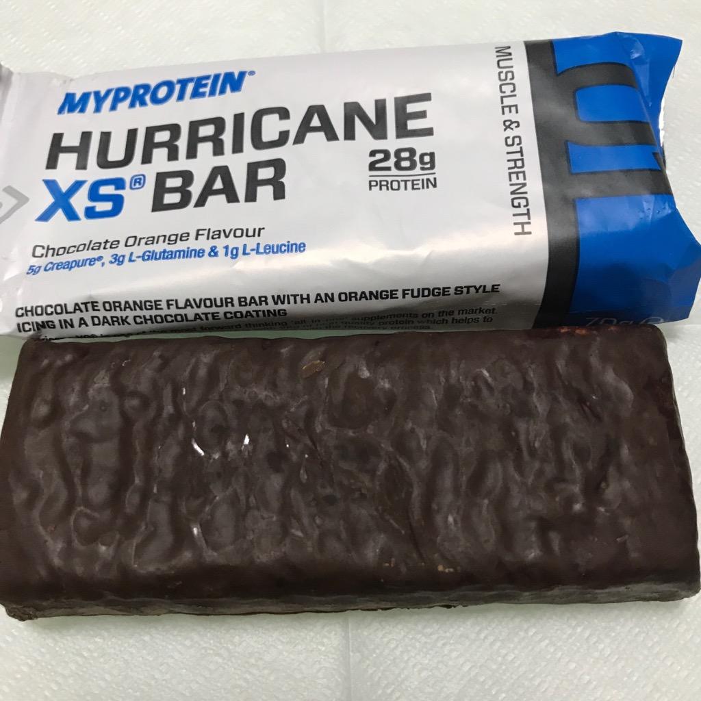 マイプロテインのハリケーンXSバー チョコレートオレンジ味