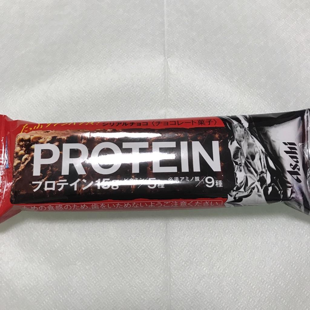 アサヒグループ食品の1本満足バー プロテインチョコ味