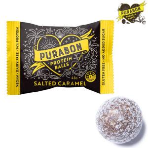 ピュラボンのプロテインボールの塩キャラメル