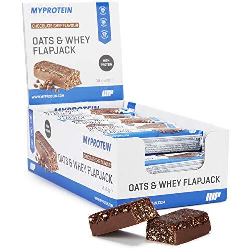 マイプロテインのオーツ&ホエイ フラップジャックのチョコレートチップ