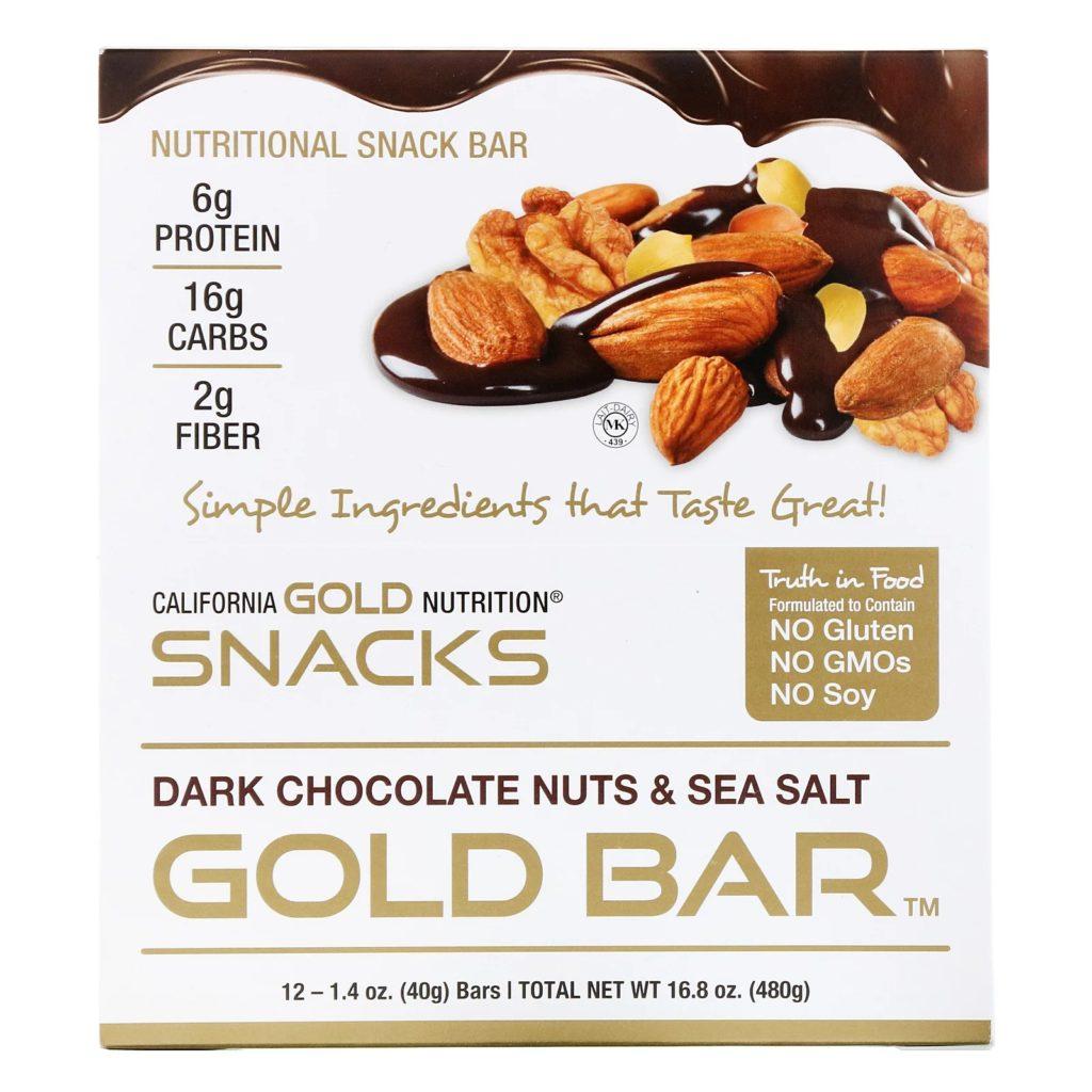 カリフォルニアゴールドニュートリションのダークチョコレートナッツ & シーソルト