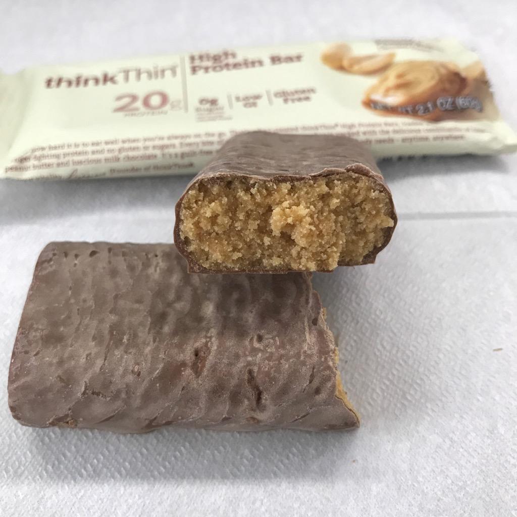 シンクシンのハイプロテインバーのクリーミーピーナッツバター
