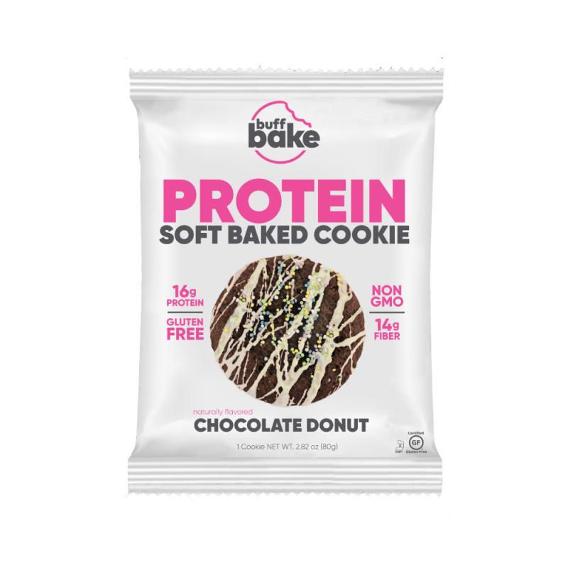 バフベイクのプロテインソフトベイククッキーのチョコレートドーナッツ
