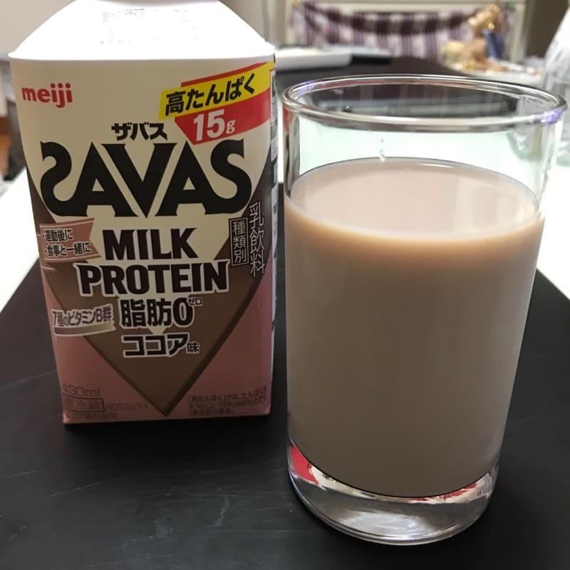 ザバス(SAVAS)のミルクプロテイン(430ml)のココア風味