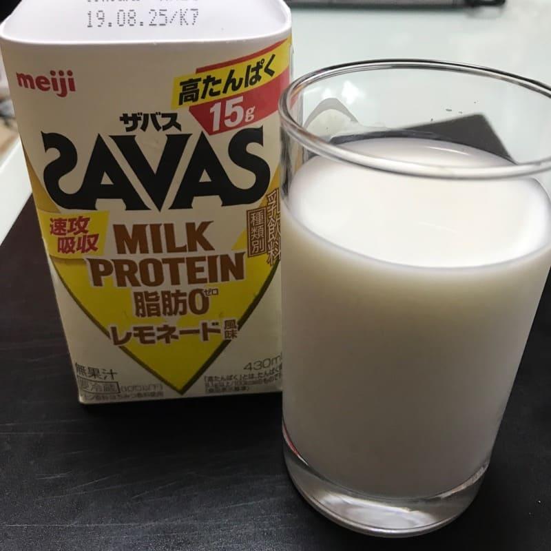 ザバス(SAVAS)のミルクプロテイン(430ml)のレモネード風味