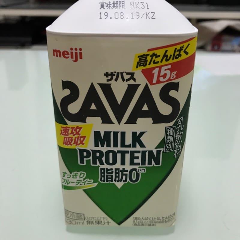 ザバス(SAVAS)のミルクプロテイン(430ml)のフルーティー風味