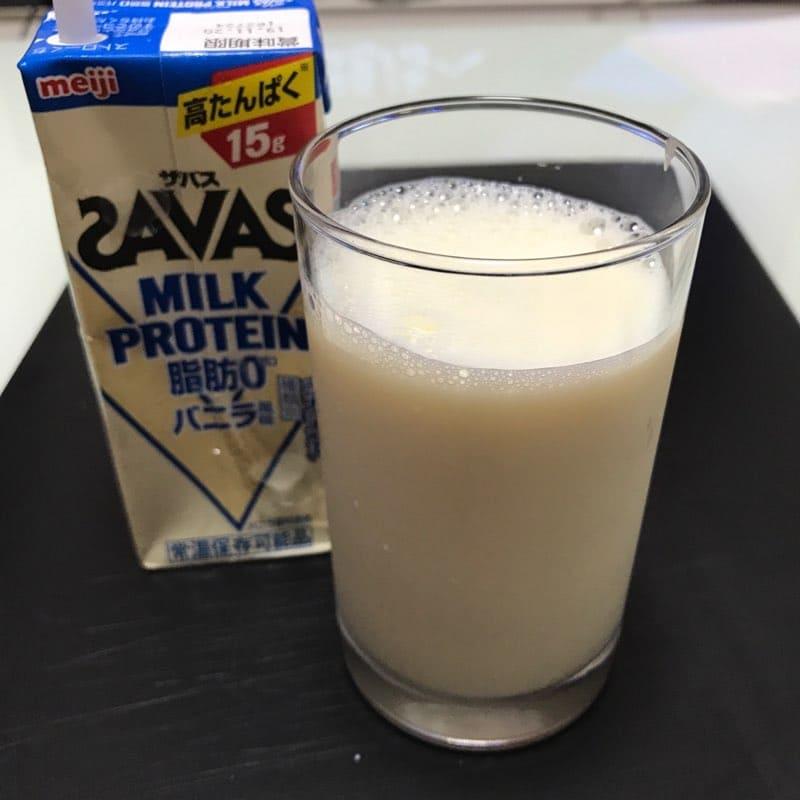 ザバス(SAVAS)のミルクプロテイン(200ml)のバニラ風味